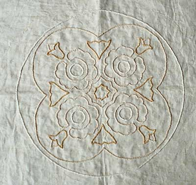 Twilling on a Quilt Block