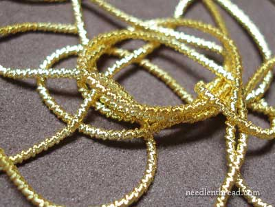 Gilt Faconnee Real Metal Thread for Embroidery