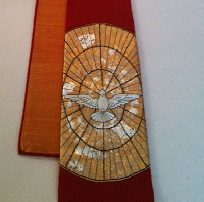 Embroidered Pentecost Stole