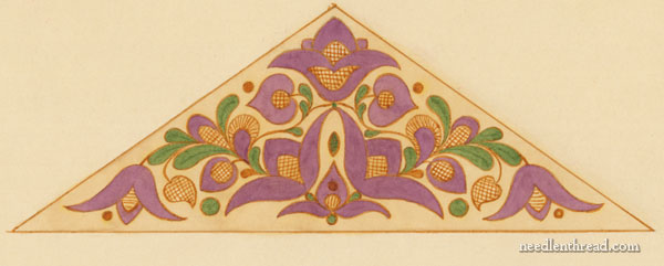 Hungarian Hand Embroidery Pattern: Tulip Triangle