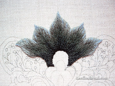 Royal Persian Blossom Crewel Embroidery Project