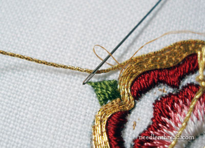 Goldwork & Silk Embroidery: Tudor Rose