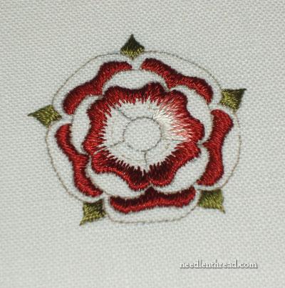 Goldwork & Silk Embroidered Tudor Rose