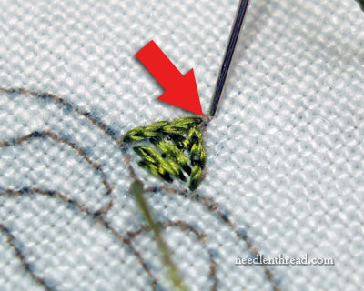 Satin Stitching to a Point
