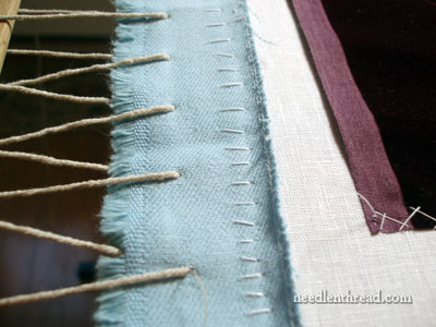 Setting up a Slate Frame for embroidery