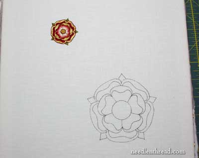 Goldwork & Silk Tudor Rose