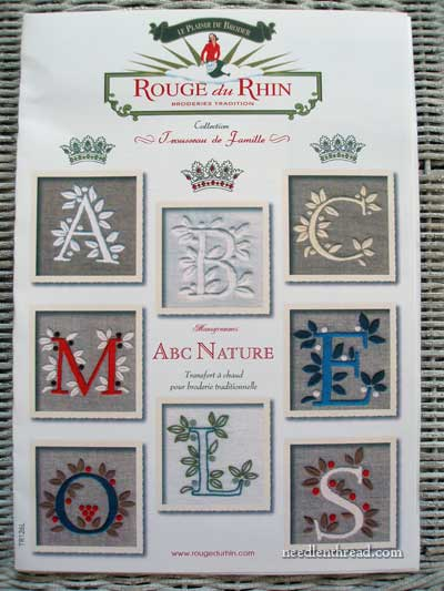Monogram Iron-On Transfers