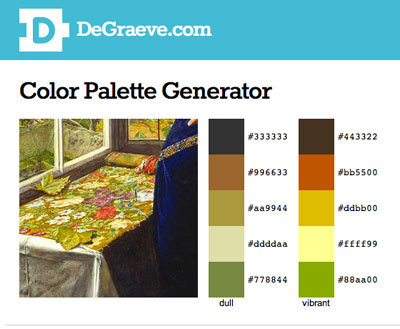 Needlework in Art & Color Palettes