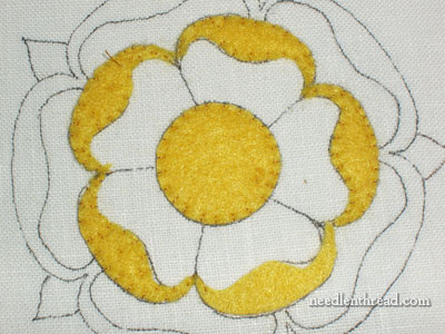 Tacking Felt Padding for Goldwork