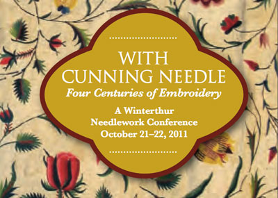With Cunning Needle Needlework Exhibit at Winterthur Museum
