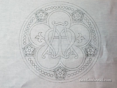 Church Embroidery Marian Medallion