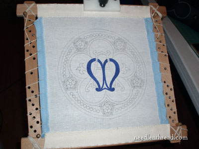 Church embroidery: Marian Medallion