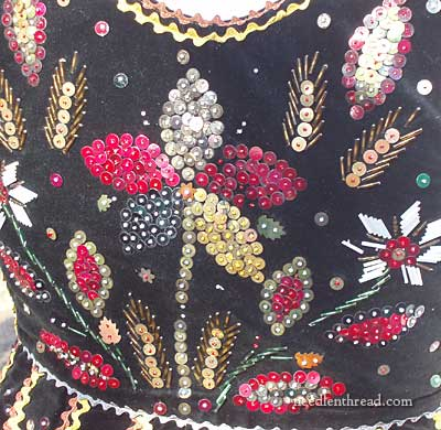 Bead and Sequin Embroidery on a Polish Vest