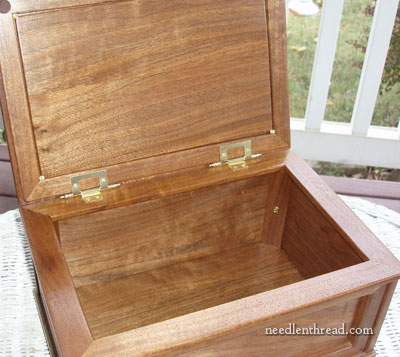 Wooden Box to Display Embroidery