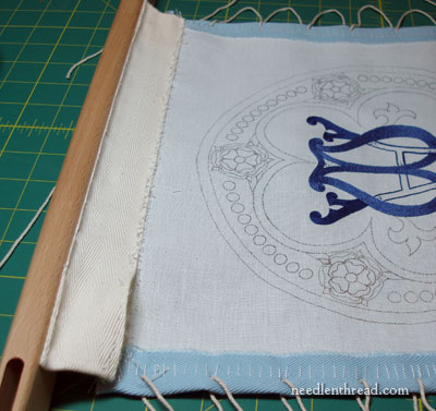 Removing Embroidery Project from Frame