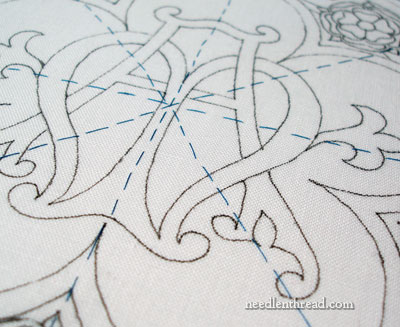 Basted Layers of Fabric for Embroidery
