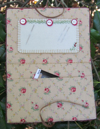 Nesting Place Crewel Embroidered Needlebook