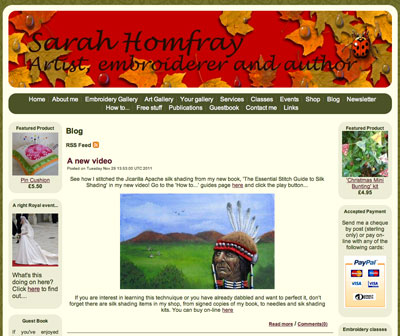 Sarah Homfray's Website