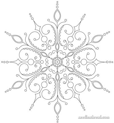 Hand Embroidery Pattern: Snowflake