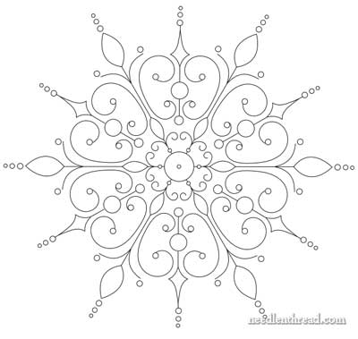 Snowflake Hand Embroidery Pattern