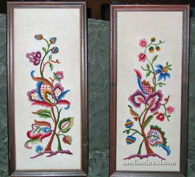 Cleaning Vintage Crewel Work Embroidery Needlenthread