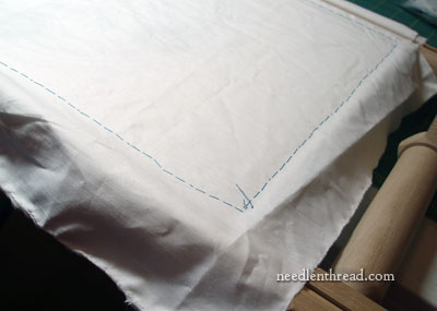 Covering Needlework with Cloth for Protection