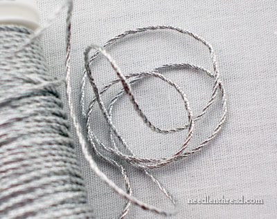 3-ply Silver Twist for Metal Thread Embroidery