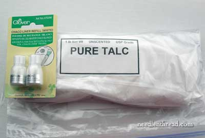 Talc for Embroidery Design Transfer
