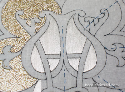 Church Embroidery with Flat Silk & Gold