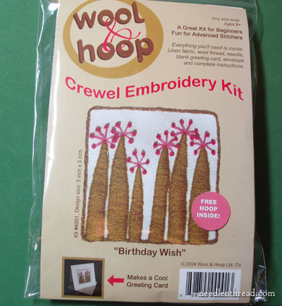 Wool & Hoop Embroidery Kit