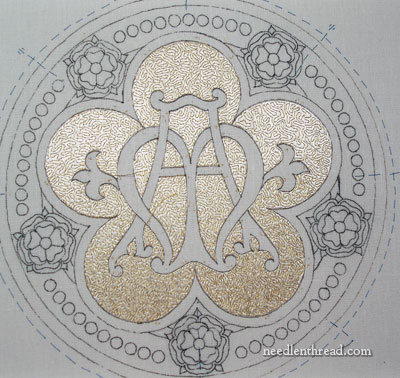 Vermicelli Goldwork on Ecclesiastical Embroidery
