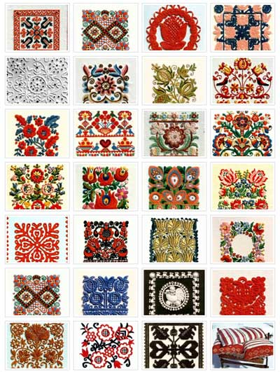 Hungarian Embroidery Examples