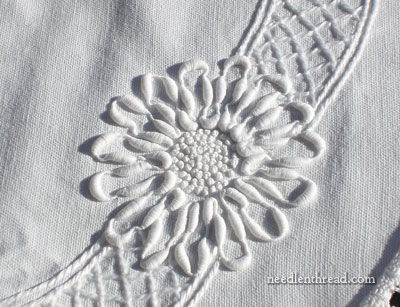Embroidered Whitework with Coronation Cord