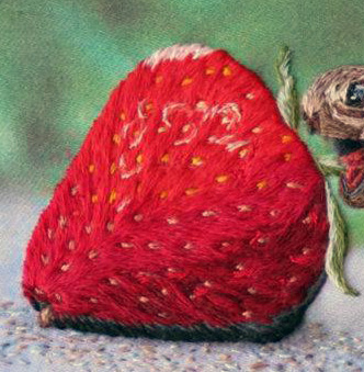 Needle Painting: Tortoise and Strawberry