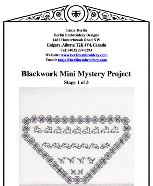 Blackwork Mini Mystery Project Tanja Berlin