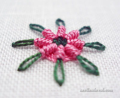 Chain Stitch Spider Daisy