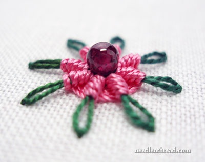 Daisy Stitch and Spider Web Stitch Combined