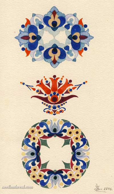 Hungarian Hand Embroidery Pattern 11 Small Needlenthread