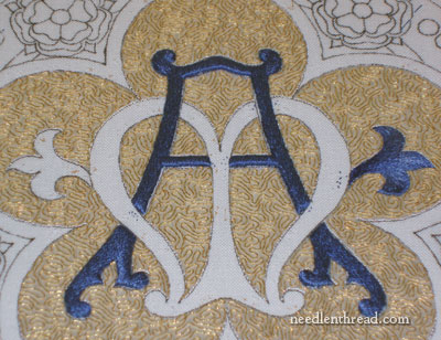 Fleur de lis in Long & Short Stitch