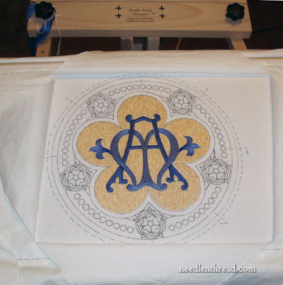 Silk and Goldwork Church Embroidery Project