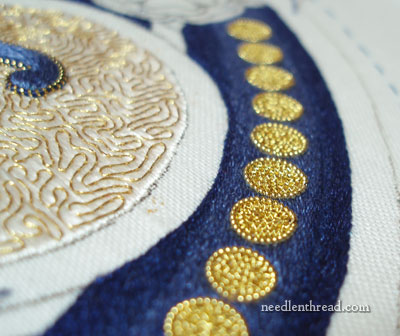 Ecclesiastical embroidery: Goldwork on Silk Hand Embroidery