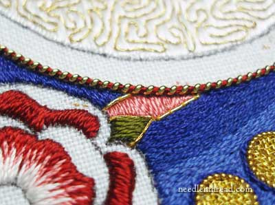 Church Embroidery: Silk & Gold Marian Medallion
