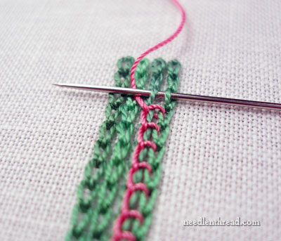 Chain Stitch & Buttonhole Stitch Combination