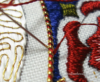 Pearl Purl Goldwork thread wrapped with silk