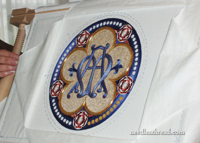 Goldwork on Church Embroidery Project