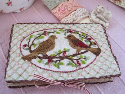 Nesting Place - Hand Embroidered Needlebook