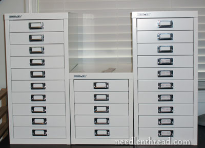 Sewing Thread Storage Wall Cabinets http://www.needlenthread.com/2012/04/embroidery-thread-storage.html