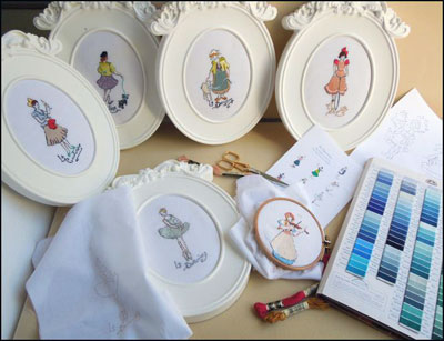 French Needle Embroidery Kits