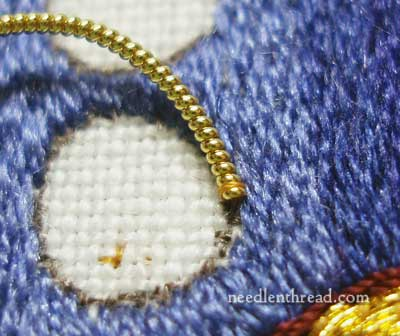Goldwork Rings with Pearl Purl