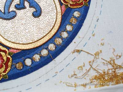 Goldwork and Silk Embroidery on Linen